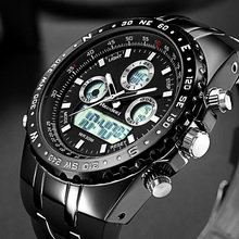 Readeel Top Brand Sport Quartz Wrist Watch Men Military Waterproof Watches LED Digital Watches Men Quartz Wristwatch Clock Male(China)