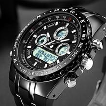 Часы наручные Readeel Мужские кварцевые, Брендовые спортивные водонепроницаемые светодиодсветодиодный цифровые, в стиле милитари