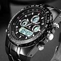 Reloj de pulsera de cuarzo deportivo de marca Readeel, relojes militares a prueba de agua, relojes digitales LED para hombre, reloj de pulsera de cuarzo para hombre