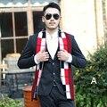 2017 venta Caliente otoño invierno hombre bufanda 20 estilo Británico de moda del todo-fósforo bufandas de cachemira bufanda larga sección de lana caliente suave