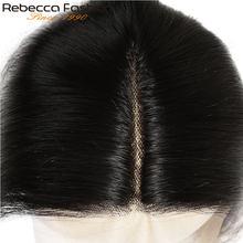 Fechamento reto brasileiro do laço do cabelo humano do fechamento do laço de rebecca 5*6 fechamento do laço suíço t fechamento profundo do laço da parte com cabelo do bebê