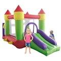 Ao ar livre Natal Tramplines Salto Inflável Castelo de salto Inflável E Slide Para Crianças Castelo Gonflable