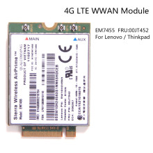 Sierra Wireless Airprime EM7455 Qualcomm 4G LTE WWAN Card UMTS HSDPA HSPA+LTE GPS for IBM Lenovo T460 T460S L460 P70 FRU:00JT542