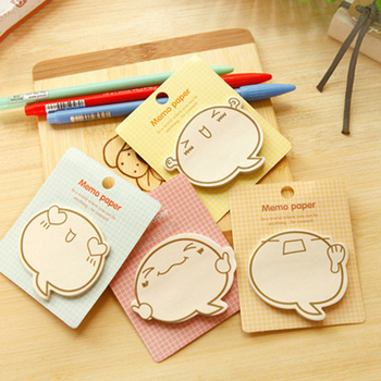 Kawaii Cute Expression Sticker Bookmark Marker Memo Pad Flags Sticky Note Stationery School Office Supplies Papeleria sl1110