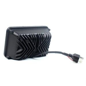 Image 4 - 4 шт. х черные 4X6 светодиодный лампы для фар 45 Вт для Kenworth H4 до H13 120/132 T400 T600