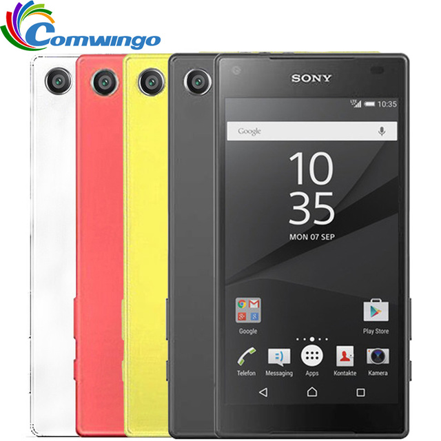 Оригинальный Разблокирована Sony Xperia Z5 Compact E5823 32 ГБ ROM Android Quad-Core и Quad Core 2 ГБ 3 Г и 4 Г z5mini 23.0MP Одноместный SIM 4.6 ''Z5