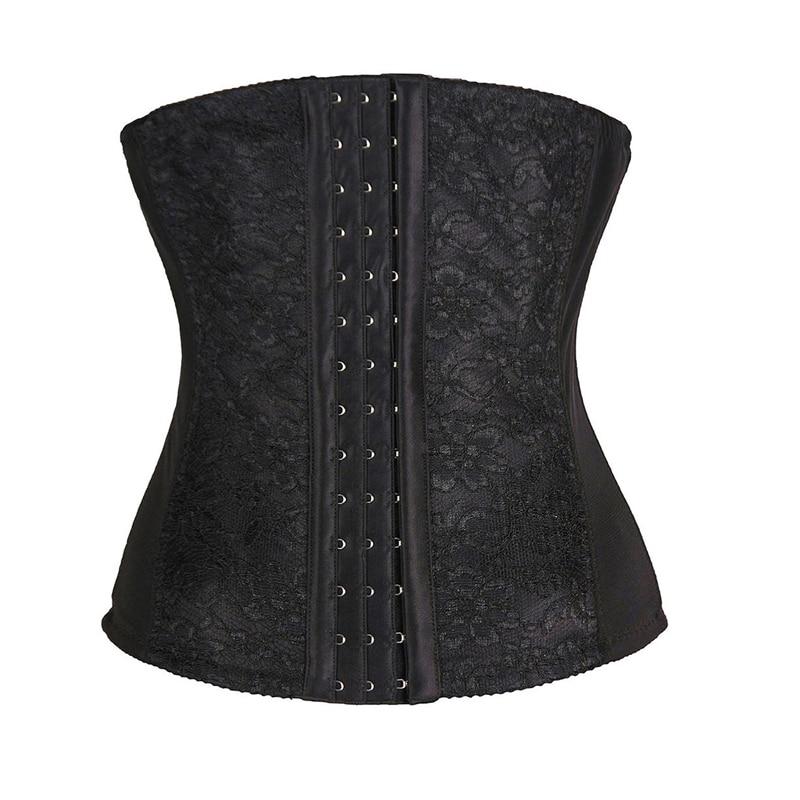 Women's Lace Underbust Waist Training Cincher Steel Boned   Corset     Bustier   Tummy Slimmer Shapewear Slimming Belt for Weight Loss