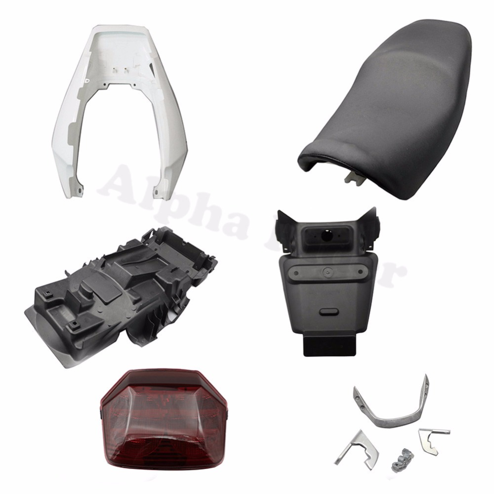 Rear Fender Mudguard Cover Registration Plate Holder Taillight Bracket Seat Complete for Honda CB 400 CB400 VTEC III 2003-2007 motorcycle tail tidy fender eliminator registration license plate holder bracket led light for ducati panigale 899 free shipping