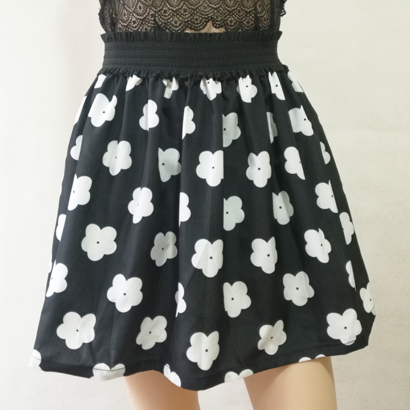 Fashion Pleated Retro High Waist Summer floral plaid Short Mini Skirts 23