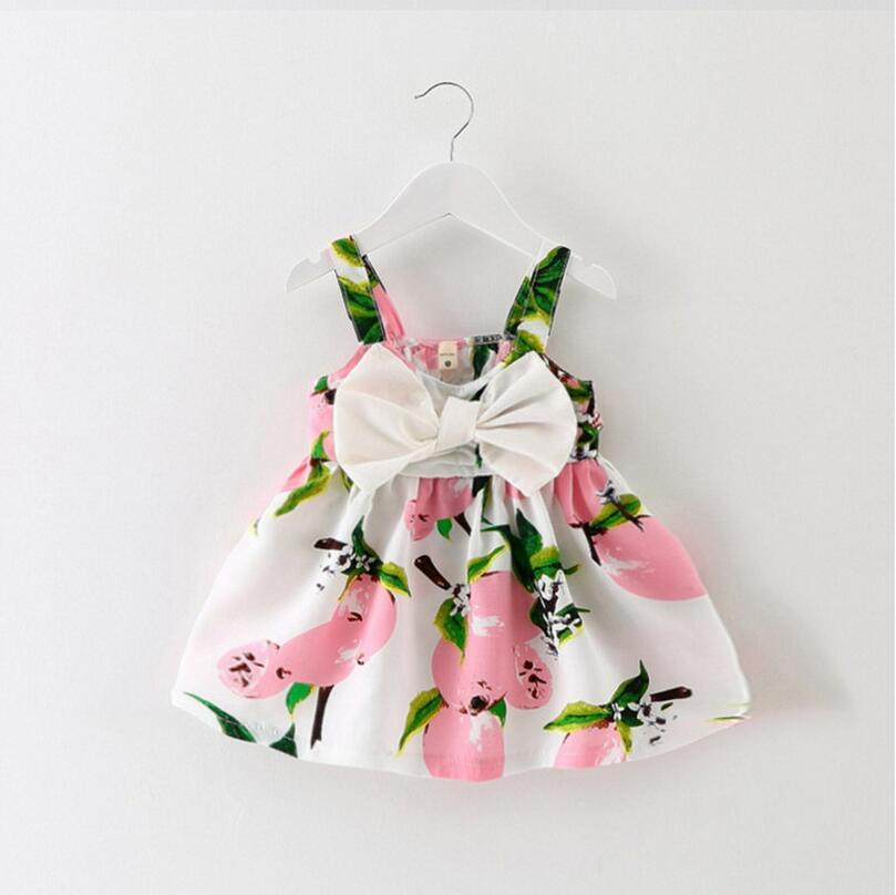Bebé niñas vestido de princesa de verano ropa de bebé impresión Floral cumpleaños fiesta vestidos para bebés vestido infantil Niña
