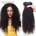 Mink brasileiro Kinky Curly Virgem Cabelo 3 Bundles Brasileiro Virgem Cabelo Curly Weave Do Cabelo Humano Virgem Brasileiro Do Cabelo Weave Bundles