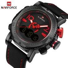 Новинка 2017 года NAVIFORCE модные для мужчин кварцевые цифровые спортивные часы армия армейские часы мужские водостойкие наручные часы Relogio Masculino