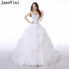 JaneVini Elegant A Line Wedding Dresses Sweetheart Beading