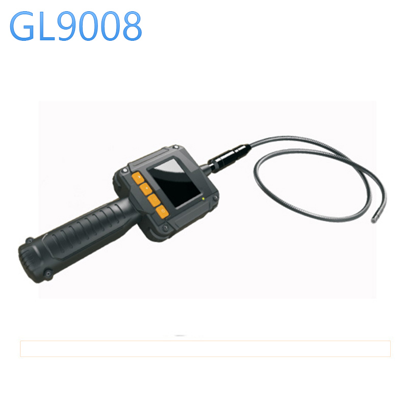 GL9008 8mm Endoscope IP67 Waterproof with Colorful LCD Monitor Camera Head Inspection Camera AV Handheld Endoscope