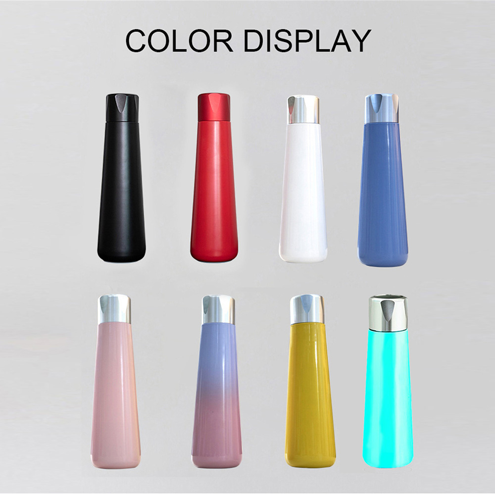 400ML Smart vacuum thermal insulation bottle with Water Drinking Reminder Function Travel LED Temperature Screen Thermos