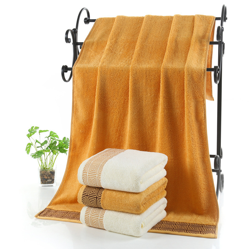 Travel Towel Bamboo: LDAJMW Bamboo Fiber Cotton Women Adult Bath Towel