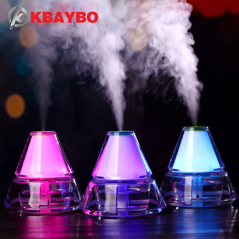 140ML Ultrasonic Humidifier USB Car Humidifier Mini Aroma Essential Oil Diffuser Aromatherapy Mist Maker Home Office