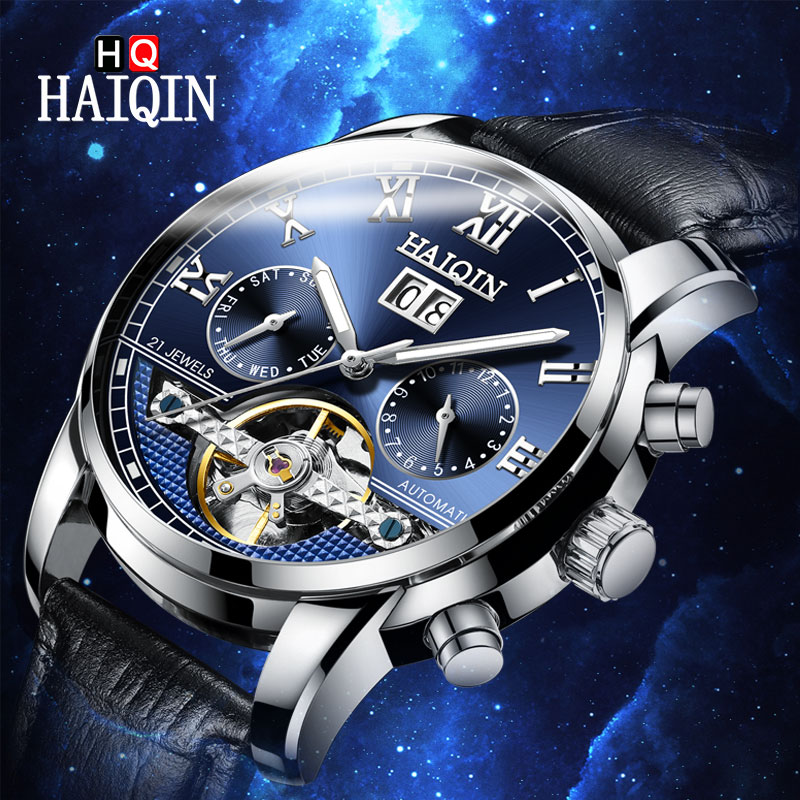 HAIQIN Men s Watches Watch Men 2019 New Luxury Men s Mechanical Watch High End Brand