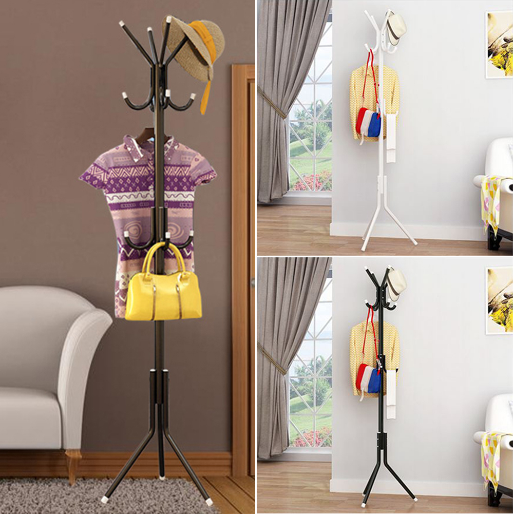 New Simple Durable Hanging Coat Hat Scarf Metal Rack Hanger Multi Hook Display Stand For Purse Handbag Clothes Hangers Furniture
