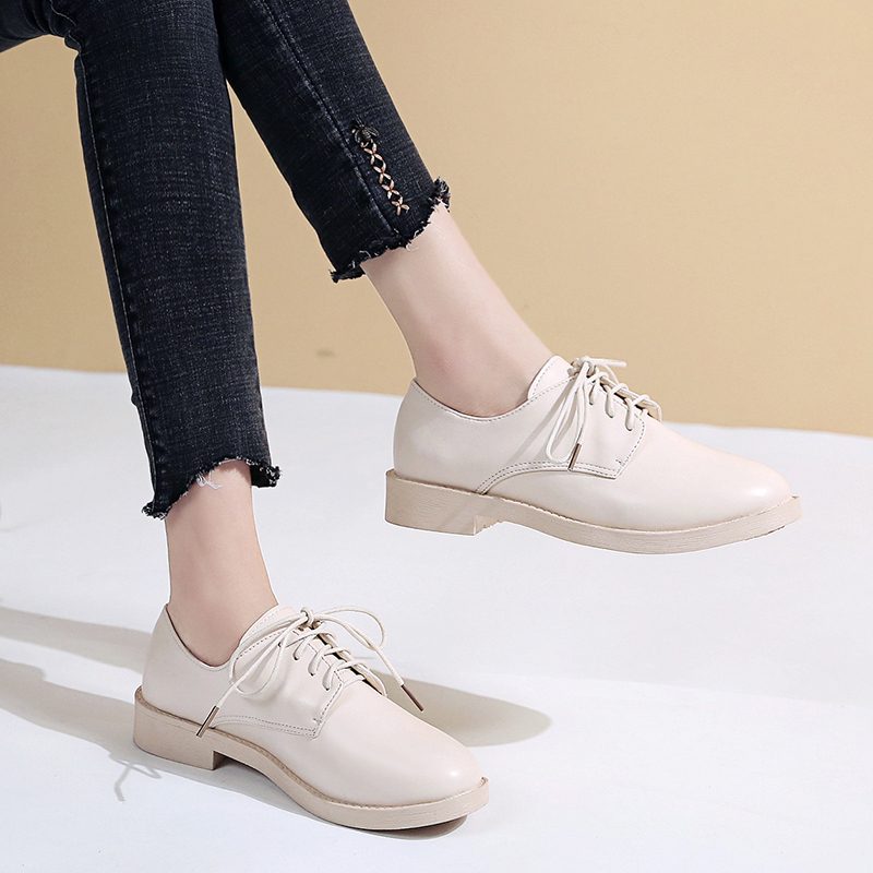 Moxxy Women Low Heels Fashion Bowtie Platform Female Spring Shoes Fringe Chunky Heel Flat Shoe Casual Footwear Oxford Shoes in Women 39 s Flats from Shoes