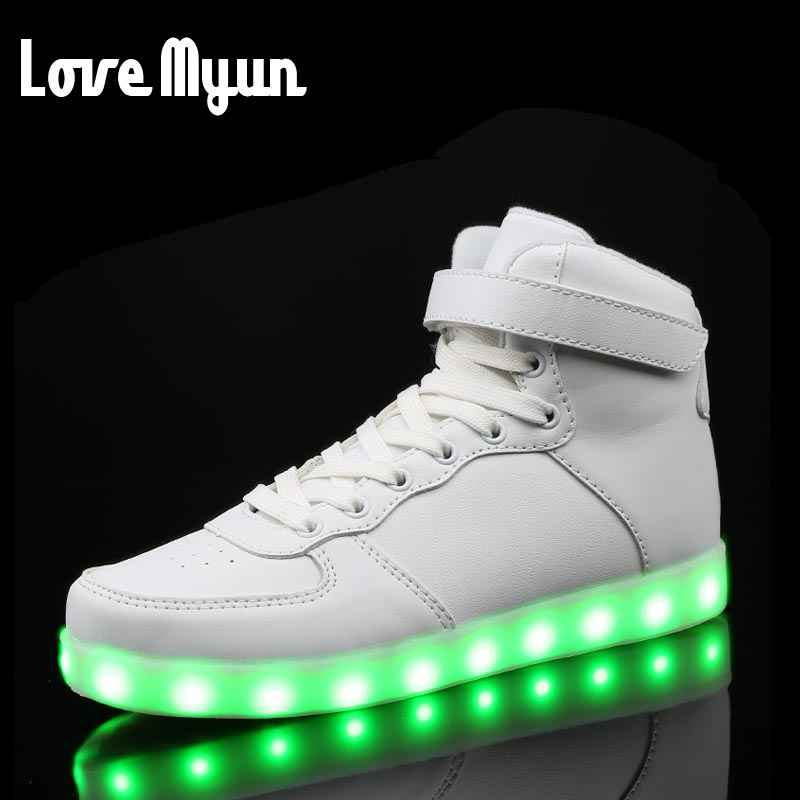 New Lovers Casual Flash Sneakers Shoes Men Fashion Luminous Shoes High Top LED Lights USB Charging Colorful Shoes DD-74 линза для маски женская roxy isis bas lns orange page 2