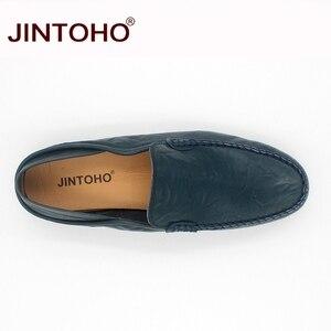 Image 4 - Jintoho Size Lớn 35 47 Slip On Nam Cho Nữ Xuân Thu Nam Mộc Mạch Trà Giày Nam Da Thật Chính Hãng của Đế Giày