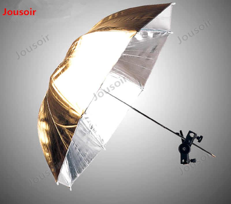 Gran parasol fotográfico equipo fotográfico paraguas reflectante de oro y plata y ambos lados URN-48GS CD50 T03