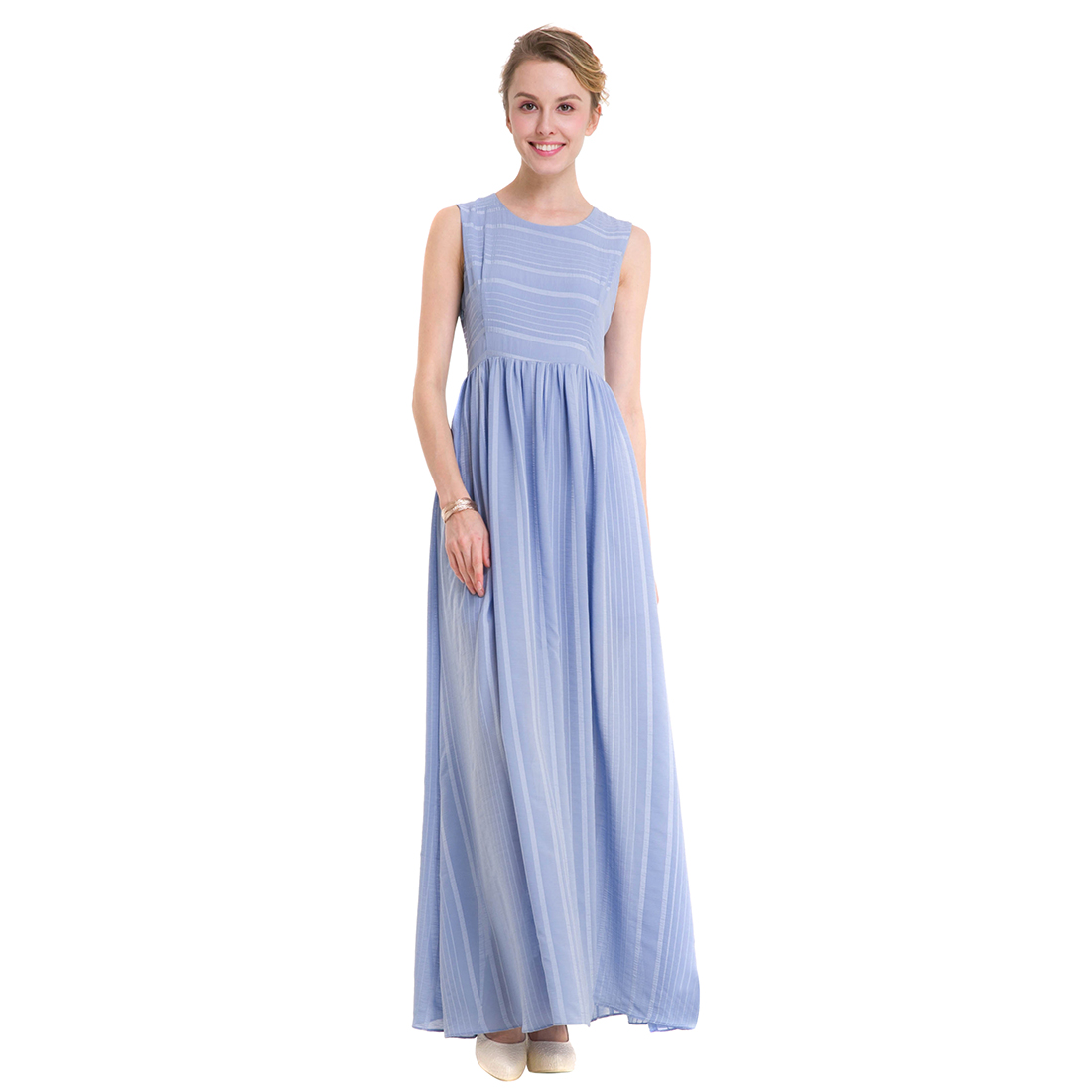 TFGS Original Design Summer Women High End Chiffon Dresses Summer Ladies Temperament Loose Big Stripe Dress