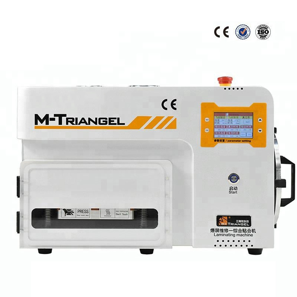 New M Triangel MT 102 LCD Automatic Built in Bubble Remove Machine OCA Vacuum Laminating Machine LCD Touch Screen Refurbish