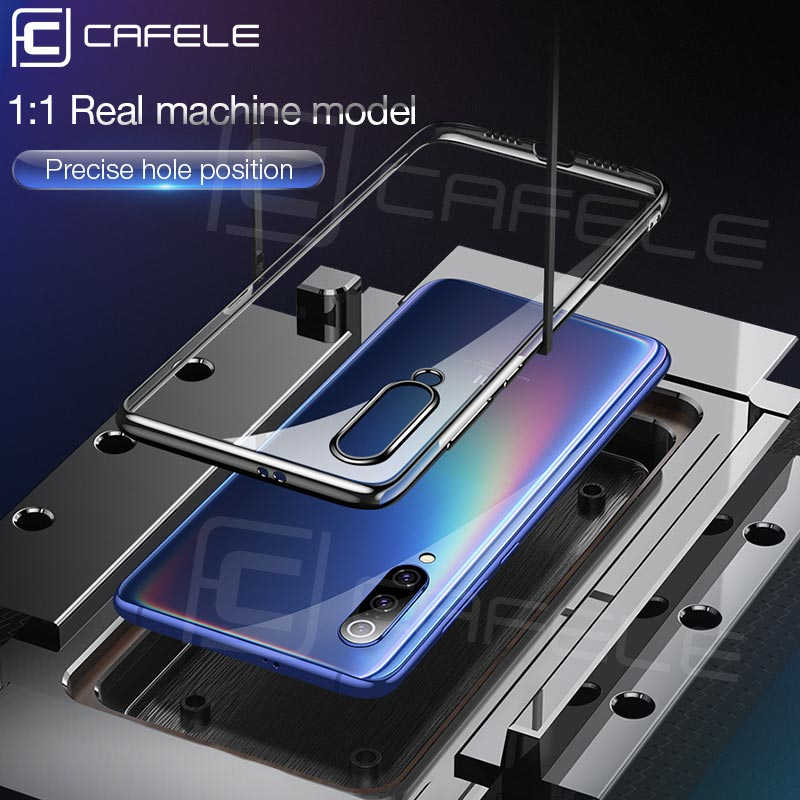 Cafele Crystal Clear Case voor Xiaomi 9 Transparante Tpu Cover Plating Telefoon Geval voor Xiaomi 9 Ultra dunne glad