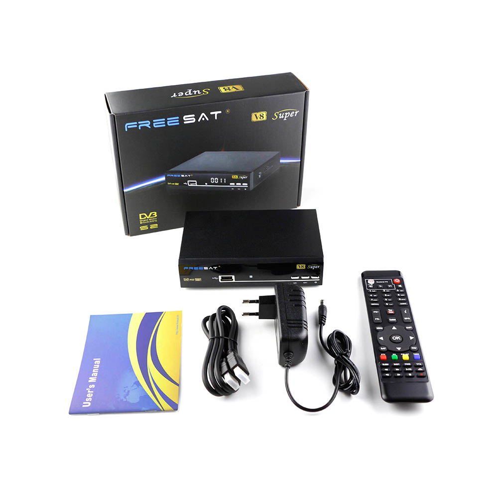 Freesat V8 Super Receptor Satellite DVB-S2 Full 1080P HD Satellite Receiver support USB Wifi wholesale freesat v7 hd dvb s2 receptor satellite decoder v8 usb wifi hd 1080p support biss key powervu satellite receiver