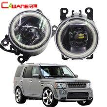 Cawanerl для Land Rover Discovery 4 LR4 внедорожник (LA) закрытое вездеход 2010-2013 автомобилей 4000LM светодио дный туман светлый Ангел глаз DRL 12 В
