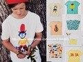 2017 BOBO CHOSES niños summert camisas camisa DEL BEBÉ ROPA de BEBÉ ROPA de la muchacha reine des neiges garcon KIKIKIDS NIÑOS NUNUNU TOPS niños
