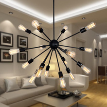 China's loft industry retro spark Cafe dining room chandelier lamp iron lamp personality электронный конструктор electronic blocks нло yj 188170486 1csc 20003426