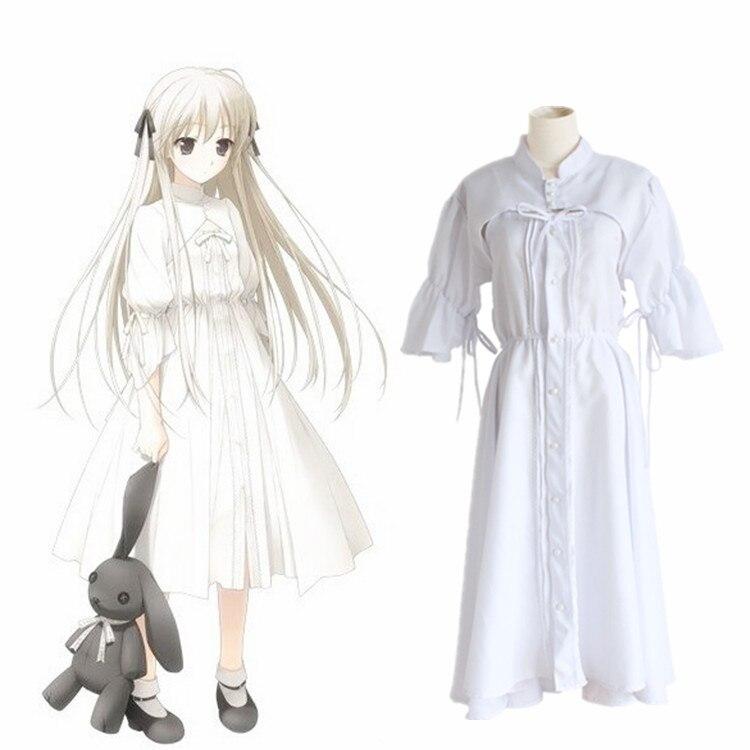 Sora Kasugano Dress Anime Yosuga no Sora In Solitude Where We Are Least Alone Cosplay Sora Women Lolita White Party Dresses