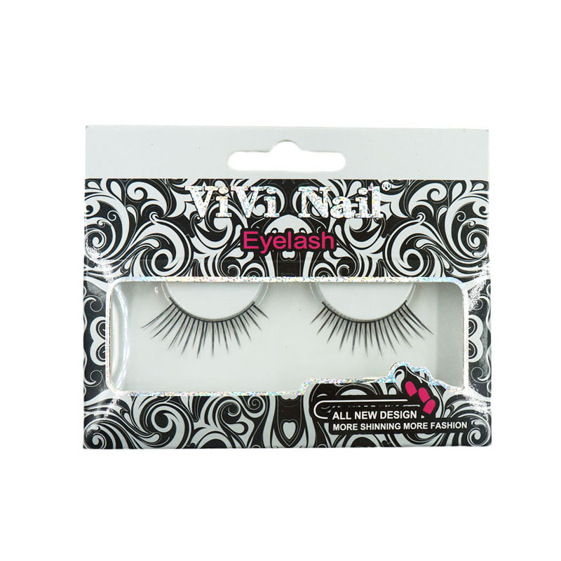 New Fashion 1 Pair Lady Soft Long Handmade False Eyelashes Luxury Natural Black Thin Eye Lashes Makeup Extension Beauty Tools