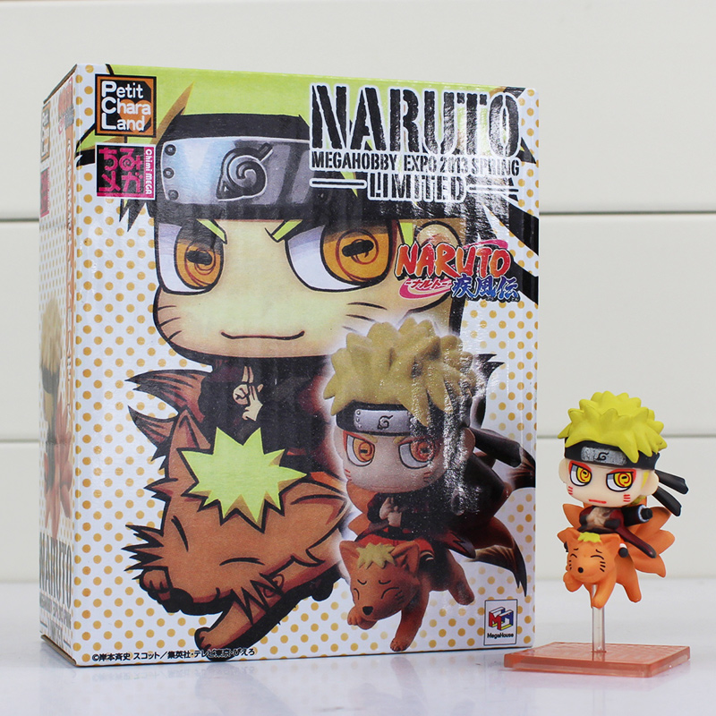 Anime Cartoon Q Version Naruto Figure Toys Naruto Uzumaki Action PVC Model Toy 10cm Free Shipping 6pcs lot 7cm naruto action figure set q edition toy naruto japan anime figures model toy set action toys