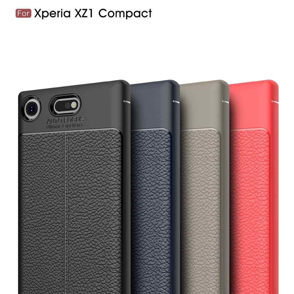 4.6 dla Sony Xperia Xz1 kompaktowy futerał do Sony Xperia Xz1 Xz 1 kompaktowy Premium Xzp podwójny G8441 G8342 G8341 G8142 Coque pokrywy skrzynka