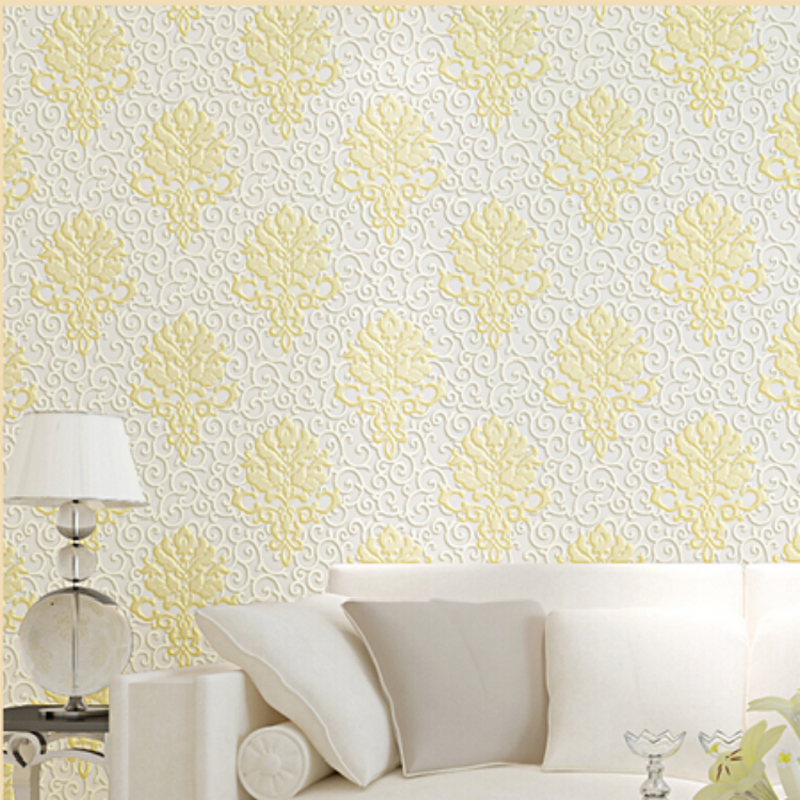 ФОТО Modern Floral  Wallpapers Home Decor Flock Non-Woven 3D Wall Paper for Living Room,Bedroom Wallpapers,Background papel de parede