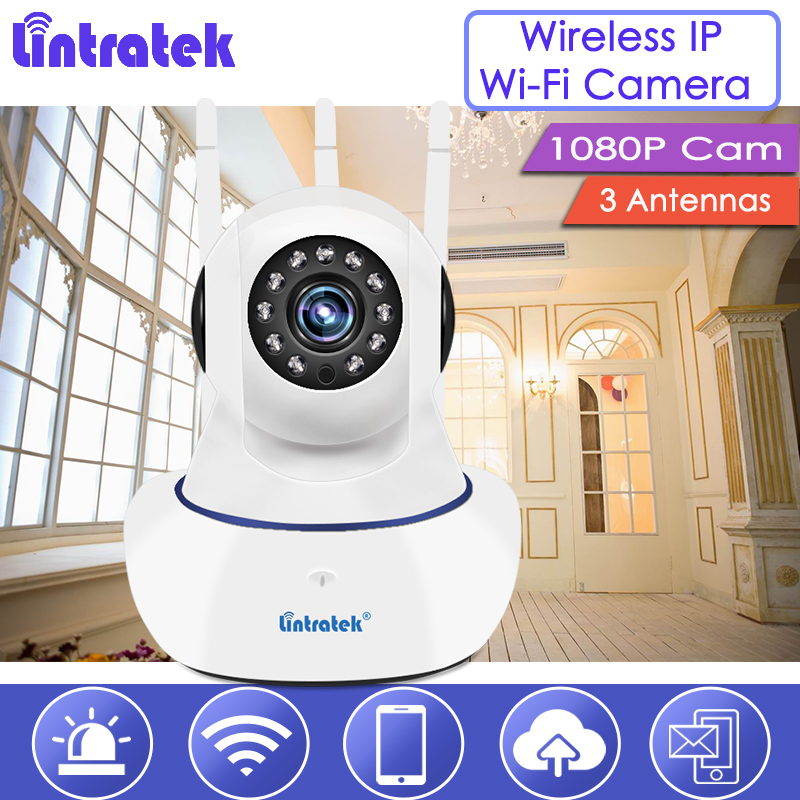 lintratek Wi-Fi IP Camera 1080P Wireless Security Cam 2MP Baby Monitor Nanny Dome Camera 1080p with 3 Antennas Surveillance S39 цена и фото
