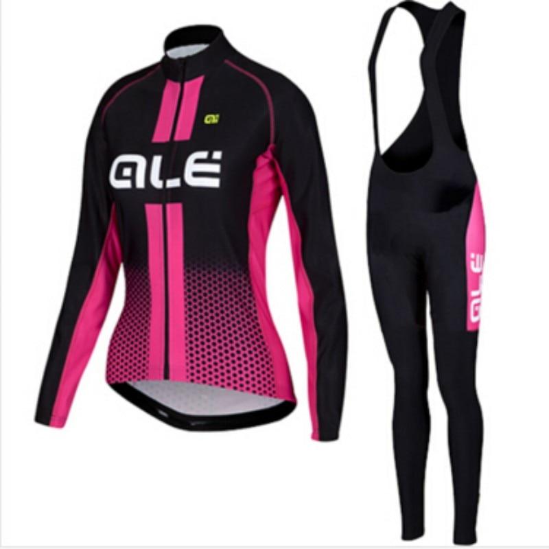Prix pour ALE Manches Longues 2016 seront vélo jersey vêtements de cyclisme vélo vêtements pendant le printemps Ropa Ciclismo Sportswear femmes jersey ensemble