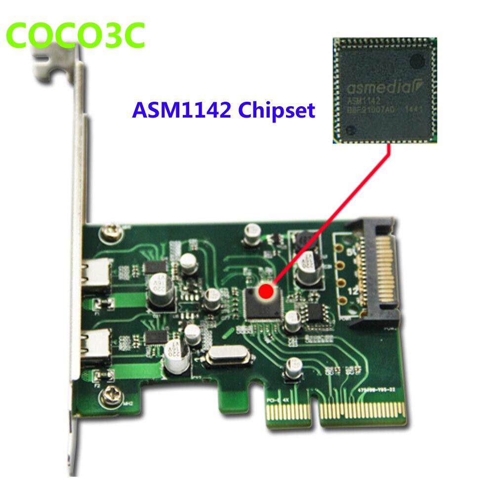 2 պորտ USB 3.1 Type-C PCI Express Card + PCIe ցածր - Համակարգչային բաղադրիչներ - Լուսանկար 2
