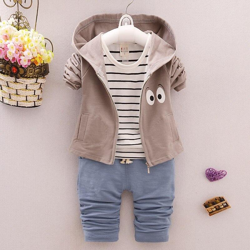 Baby s Clothing Set Hooded Sweatshirts T shirt Pants 9 to 24CM Cotton Spring Autumn Boys