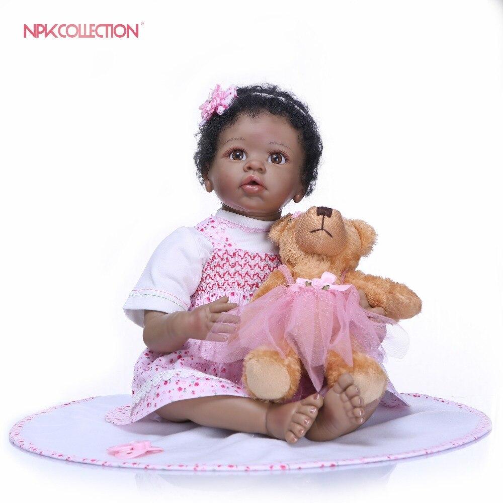 NPKCOLLECTION Bebes Reborn doll 22inch silicone doll Girl Reborn Baby Doll Toy Lifelike Newborn Princess Bonecas