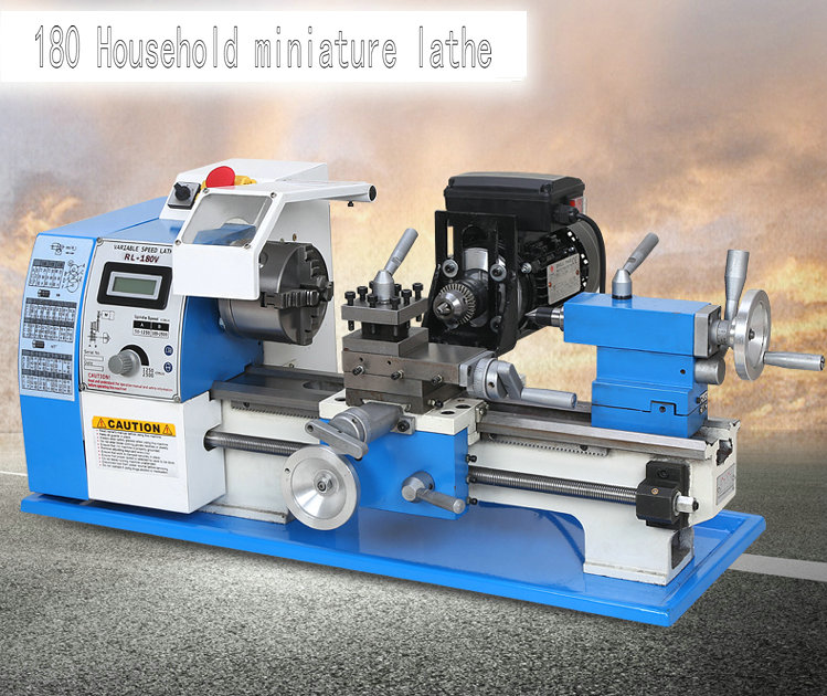 600W multifunction home mini lathe, machine beads, metal / wood turning, digital, DIY processing machinery and equipment цена