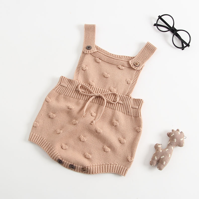INS Summer Knitted Rompers Newborn In Baby Girls\' Rompers&Jumpsuit Vest Top Tee Kids Boys Gray Rompers 0-3 Years Girl Clothing (3)