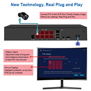 Image 3 - Smar Plug and Play H.265 5MP IP Security Camera System 8CH 4CH 5MP POE NVR Kit With 5MP Outdoor Camera Video Surveillance System
