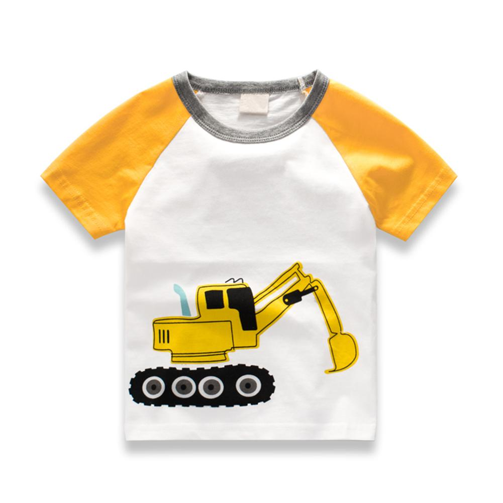 Summer Kids Boys T Shirt Crown Print Short Sleeve Cotton Children T Shirt O Neck Boy Cloth Cartoon Pattern Casual Clothes