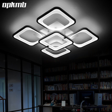 modern living room  ceiling lamp rectangle iron ceiling light creative led ceiling light for bedroom dining room 5/8