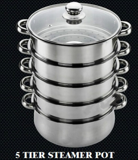 free shipping steamer pot kitchen steamer inox pot cooking utenstil stainless steel steamer. Black Bedroom Furniture Sets. Home Design Ideas